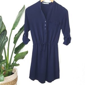 Maurices Navy Blue Popover Mini Dress XS